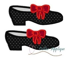 Tap Shoes Applique - 3 Sizes! | What's New | Machine Embroidery Designs | SWAKembroidery.com Dollar Applique
