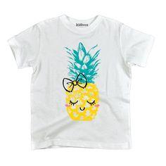 Kawaii Pineapple Cute Happy Bow Blushing - Youth T-Shirt