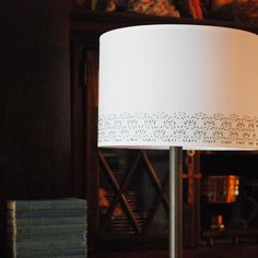 I love the idea of embroidering on fabric for a #DIY #lampShade #AmbitEnergy http://ww2.ambitenergy.com/