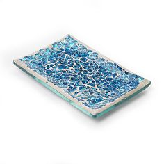 Mosaic Aqua Crackle Bathroom Soap Dish Tray Holder Bath Room Accessories View