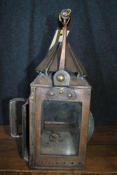 Antique Ship Lantern Steamdrifters S Ltd Lowestoff Nautical Maritime Rare