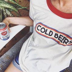 shop dainty lion for awesome MATE The Label tanks + tees! this cold beers tee is all you need. visit our online boutique for bohemian women's fashion + more!