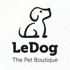 Le Dog - The Pet Boutique logo Pet Boutique, Boutique Logo, Logo Inspiration, 100 Logo, Dog Icon, Care Logo, Logo Food, Art Graphique, Animal Logo