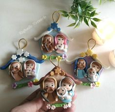 Pasta Flexible, Polymer Clay, Christmas Ornaments, Holiday Decor, Cold Porcelain Ornaments, Santos, Yule, Ideas, Clay Crafts