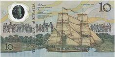 10 Dollars 1988 (Gedenknote Besiedlung Australiens) Australien Monarchie im Commonwealth of Nations