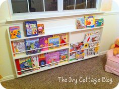 toddler book shelf DIY