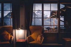 www.huusgstaad.com Alpine Style, Hotel S, This Is Us, Relax, Windows, Rustic, Interior Design, Architecture, Photos