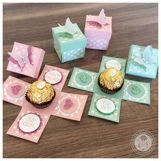 Stampin' Up! - Mini Explosionsboxen mit einem Ferrero Rocher - Bellas Stempelwelt – Mini Explosionsboxen, Ferrero Rocher, kleine Geschenke, Gastgeschenke