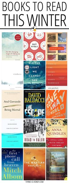 A round up of books to put on your winter reading list.