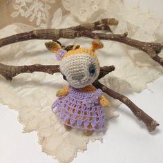 Crochet sunny bunny with bobble head small amigurumi от LozArts