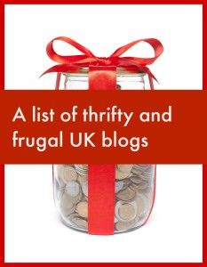 thrifty and frugal UK blogs