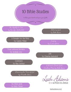 10 Bible Studies to bless your heart and grow your faith. Have you done any of these?!