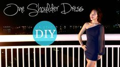 DIY One Shoulder Dress with Chiffon Sleeve She's a master!