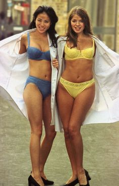 Holly Willoughby and Trese-San Wong in the 1990s