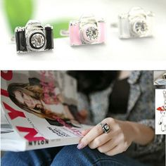 Jewelry wholesale Korean rings personalized fashion camera Ring