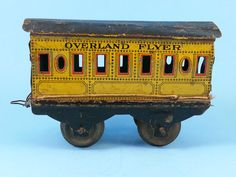 ANTIQUE VINTAGE TIN TOY TRAIN CAR 0 GAUGE OVERLAND FLYER