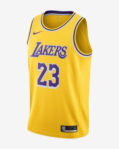 Maillot Connecte Nike NBA Lebron James Icon Edition Swingman Los Angeles Lakers Pour Homme