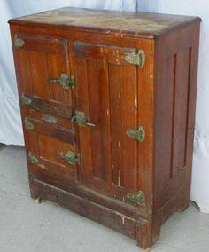 antique ice box | Bargain Johnu0027s Antiques » Blog Archive Antique Oak Ice Box with . & Vintage 1920s Oak Ice Box Refrigerator Storage. $395.00 via Etsy ... Aboutintivar.Com