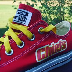 93d673620802 Kansas City Chiefs Converse Sneakers Converse Style