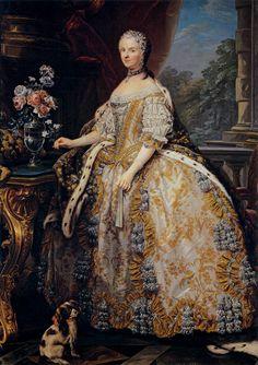 Marie Leszczynska, Queen of France  c. 1748 by Carle van Loo.