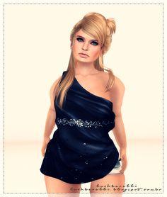 Moda no SL by Luah Benelli: Virtual Diva - New Top Delight Hair Retro