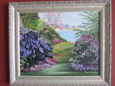 My mom's painting of my garden