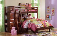 Amazon.com: Twin Over Full Loft Bed in Merlot Finish: Home & Kitchen
