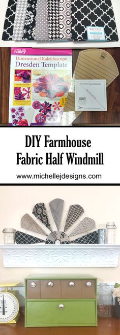 I love sewing and creating decor for my home. Check out my newest decor project. It is DIY farmhouse half windmill with a twist. It is made from fabric! www.michellejdesigns.com