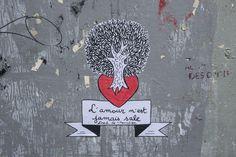 Tree Heart Street art  Love Fred le Chevalier © Mairie de Paris