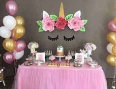 Most popular party ideas and themes for girl birthday parties,boy birthday parties, baby showers, bridal showers and weddings Unicorn Birthday Parties, First Birthday Parties, 2nd Birthday, Birthday Ideas, 18 Birthday Party Themes, Dinosaur Birthday, Unicorn Photos, Bday Girl, Monster Party