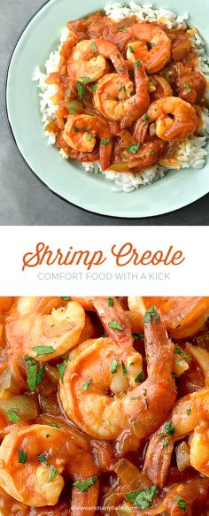 Shrimp Creole is delicious comfort food with a kick! #recipe shewearsmanyhats.com