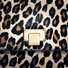 Tiffany Tatiana clutch in camel leopard print haircalf. #TiffanyPinterest