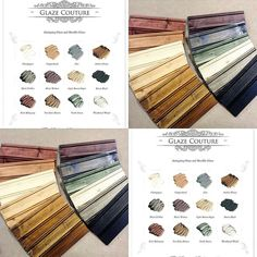 Curious about our glaze colors and what they look like on raw wood? Glazing Furniture, Paint Furniture, Furniture Makeover, Cool Furniture, Refurbished Furniture, Vintage Furniture, Wood Colors, Paint Colors, Chalk Painting