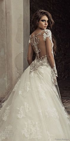 corona borealis 2018 bridal long sleeves sweetheart neckline full embellishment elegant princess sheath wedding dress a line overskirt sheer lace back royal train (6) zbv -- Corona Borealis 2018 Wedding Dresses #weddinggowns #weddingdress