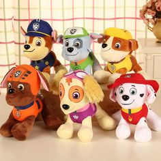 20-30cm Canine Patrol Dog Toys Russian Anime Doll Action Figures Car Patrol Puppy Toy Patrulla Canina Juguetes Gift for Child