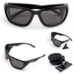 Cold Steel Battle Shades Mark III Black Frame Gray Lens
