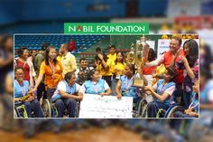 Nabil Foundation supporting the winners under Male and Female categories of 3rd ENGAGE Empowering League, a wheelchair basketball competition.