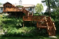 Deck staining/sealing by: J&H Painting of the Quad Cities.