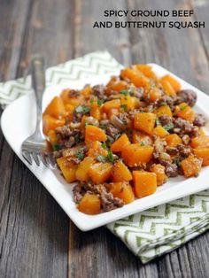Spicy Ground Beef and Butternut Squash - My Heart Beets