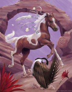 Draw Horses The dance. Horse Drawings, Animal Drawings, Pretty Horses, Beautiful Horses, Fantasy Creatures, Mythical Creatures, Horse Cards, Indian Horses, Horse Artwork