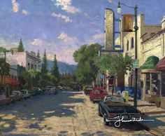 'Los Gatos' (2003) by Northern California artist Thomas Kinkade  (1958-2012)