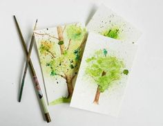 Spatter Watercolor Tree Tutorial | The Art 123