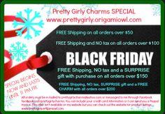 facebook.com/prettygirlycharms #BlackFriday #OrigamiOwl # Special