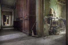 A vintage scooter in the abandoned mansion house. Andre Govia.