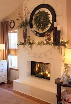 15 Beautiful Christmas Decoration with Fireplace Ornaments | Home Design And Interior