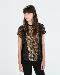 Image 1 of COMBINED PRINT T-SHIRT from Zara