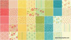 Chance of Flowers Jelly Roll - Sandy Gervais - Moda Fabrics