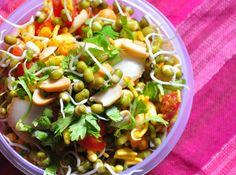 A good low cal chaat option for weight watchers, giving you protein and fibre together.