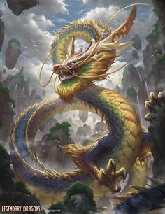 ArtStation - Kundal, The Rainbow Dragon, Kevin Sidharta Japon Illustration, Fantasy Illustration, Botanical Illustration, Fantasy Artwork, Legendary Dragons, Mythical Creatures Art, Dragon Artwork, Dragon Pictures, Fantasy Character Design