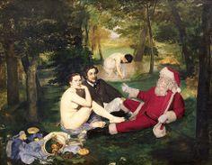 le pere noel dans des classiques de la peinture 10   Le père Noël dans des classiques de la peinture   photoshop père noël peinture micro pe...